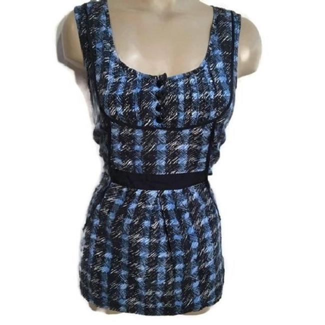 Preload https://img-static.tradesy.com/item/24214774/odille-blue-plaid-silk-blend-blouse-size-8-m-0-0-650-650.jpg