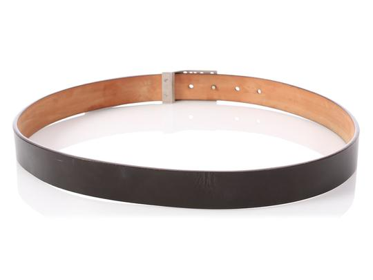 Louis Vuitton Dark Brown Leather Logo Cutout Belt Image 3