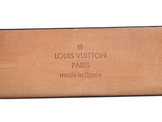Louis Vuitton Dark Brown Leather Logo Cutout Belt Image 6