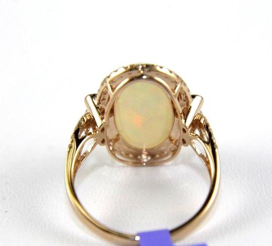 Other Huge Oval Fire Opal Solitaire Ring w/Diamond Halo 14k RG 4.32Ct Image 6