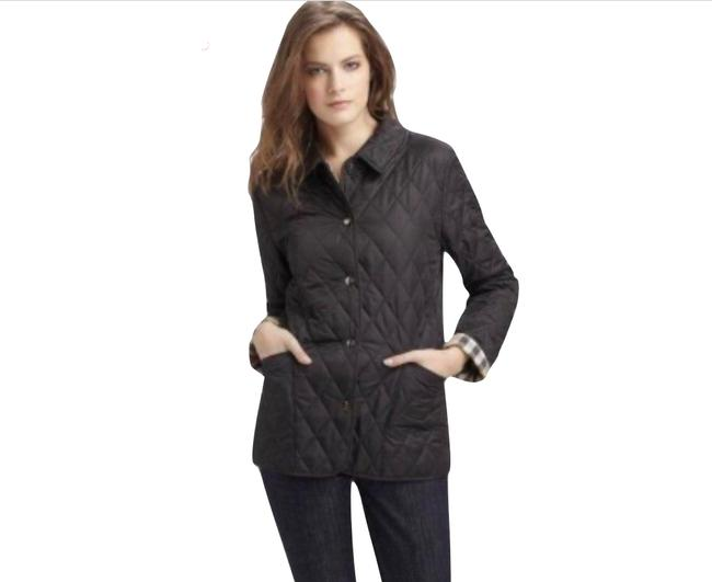 Item - Brown/Black Candace Quilted Jacket Nova Check Lining Coat Size 6 (S)