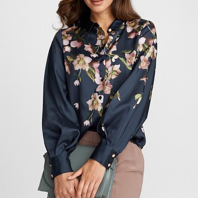 Ted Baker Button Down Shirt Navy Image 6