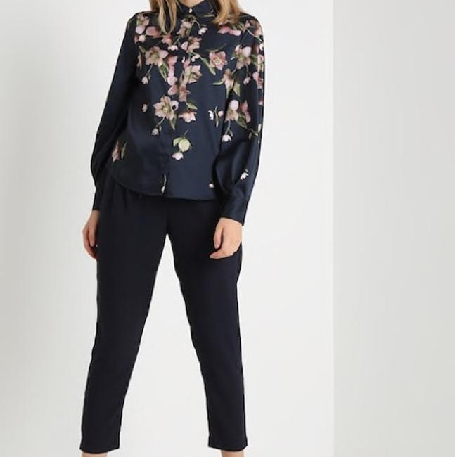 Ted Baker Button Down Shirt Navy Image 9