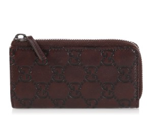 Gucci Brown Guccissima Leather Key Case