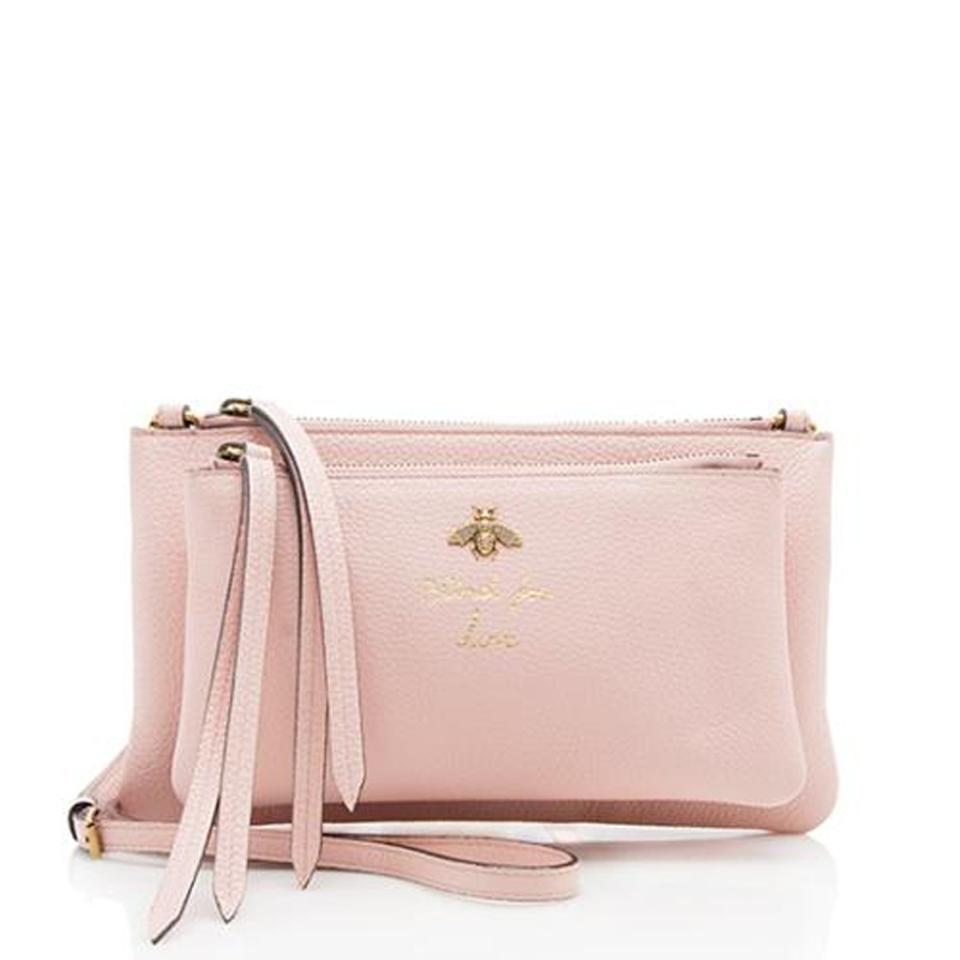 00f21bca941 Gucci Blind For Love Bee Pink Leather Cross Body Bag - Tradesy