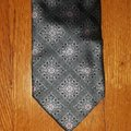 Ermenegildo Zegna Silk Grey with Black Accents and Pink Floral Design New Without Tags Tie/Bowtie Image 0