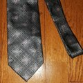 Ermenegildo Zegna Silk Grey with Black Accents and Pink Floral Design New Without Tags Tie/Bowtie Image 1