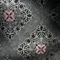 Ermenegildo Zegna Silk Grey with Black Accents and Pink Floral Design New Without Tags Tie/Bowtie Image 2