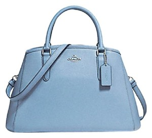 Coach Leather Margo Satchel in blue