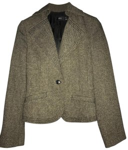 Mango brown-black melange tweed Blazer