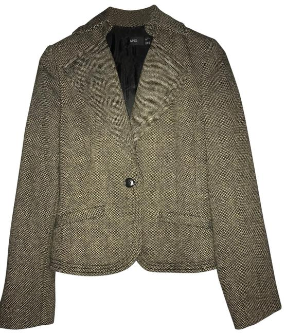 Mango brown-black melange tweed Blazer Image 0
