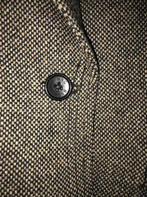 Mango brown-black melange tweed Blazer Image 2