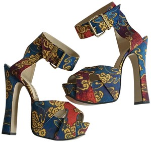 Vivienne Westwood Red and Blue Platforms