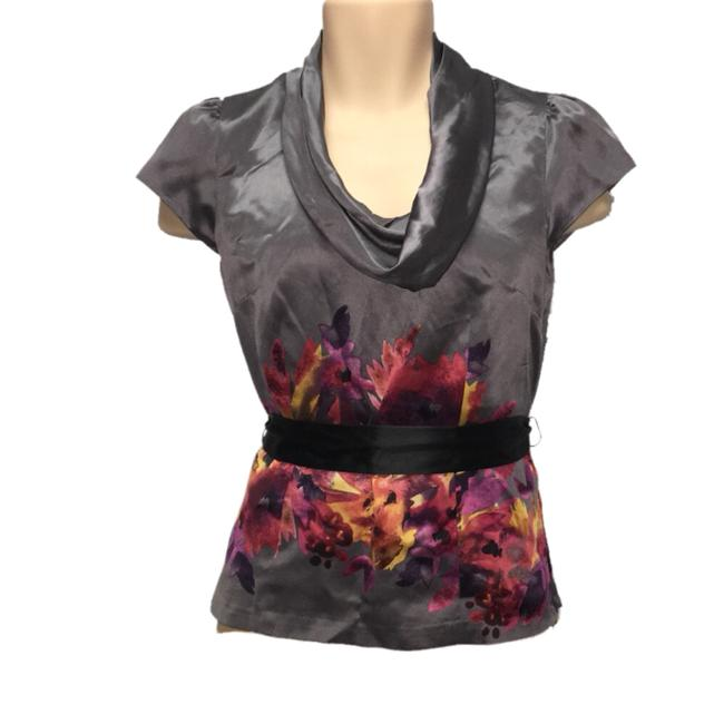 Preload https://img-static.tradesy.com/item/24215047/classiques-entier-gray-floral-cowl-neck-silk-blouse-size-4-s-0-0-650-650.jpg