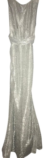 Item - Silver Chrome Long Formal Dress Size Petite 4 (S)
