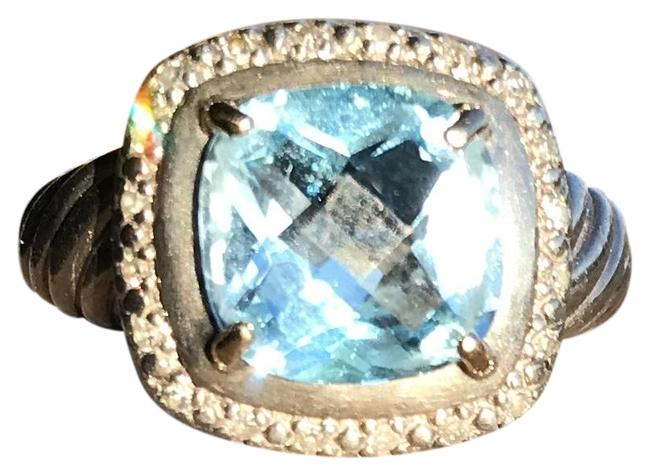 Blue Topaz and Diamond Ring Image 1