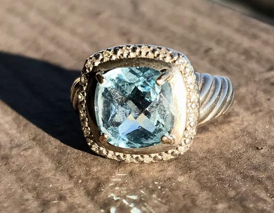 Other Blue Topaz and Diamond Ring