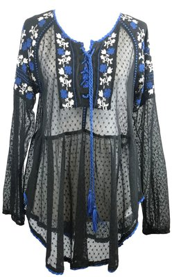 d327e9bb Free People Black with Blue Sweater