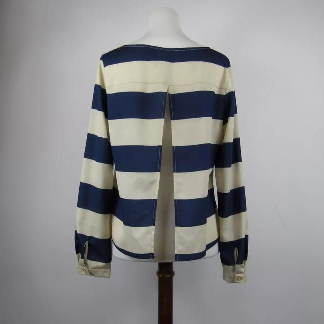 Cope Top Navy and beige Image 3