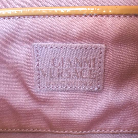 Versace Rare Couture Exotic Pouch Gold Pink Yellow Clutch Image 10