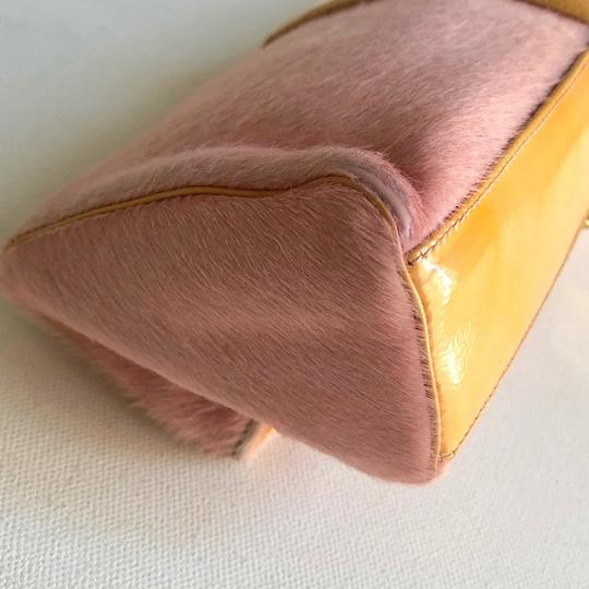 Versace Rare Couture Exotic Pouch Gold Pink Yellow Clutch Image 11