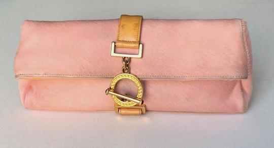 Versace Rare Couture Exotic Pouch Gold Pink Yellow Clutch Image 2