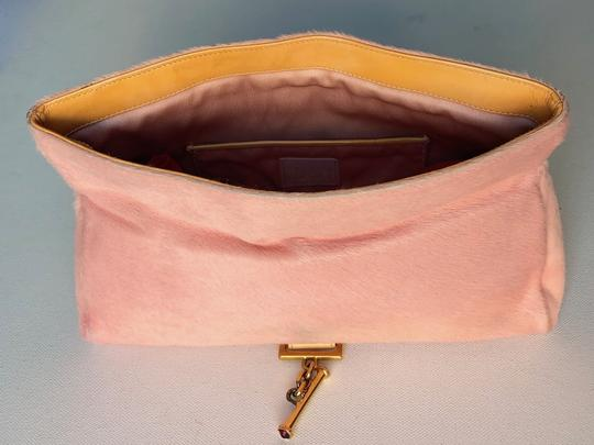 Versace Rare Couture Exotic Pouch Gold Pink Yellow Clutch Image 3