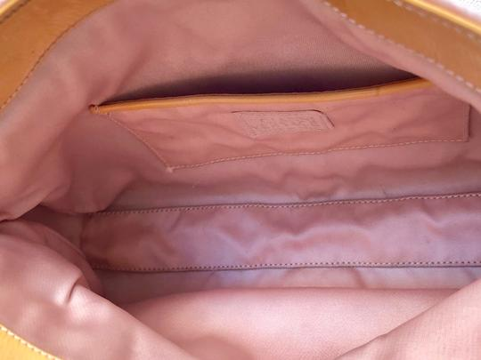 Versace Rare Couture Exotic Pouch Gold Pink Yellow Clutch Image 4