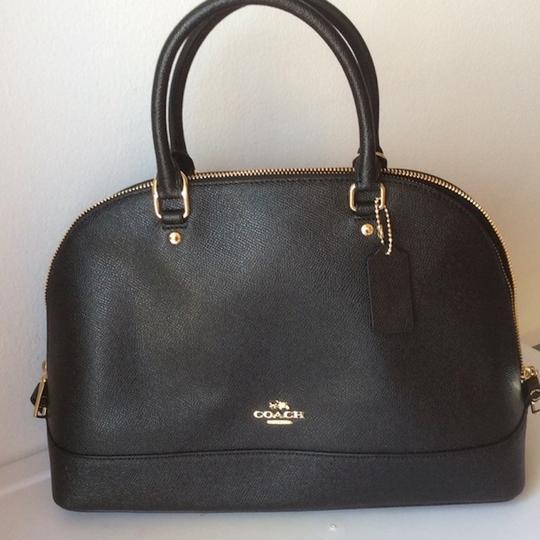 COACH New With Tags Satchel in BLACK Image 2