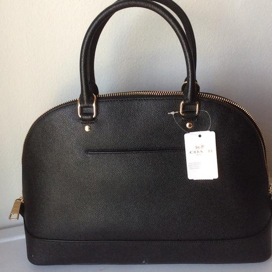 COACH New With Tags Satchel in BLACK Image 3