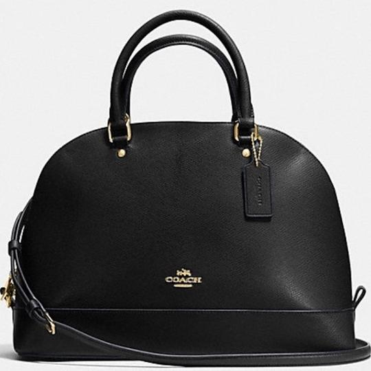 COACH New With Tags Satchel in BLACK Image 6