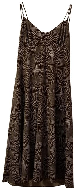 Item - Brown and Beige Sundress Short Casual Dress Size 12 (L)