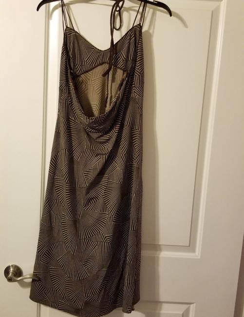 size 7 novel design 2018 sneakers BCBGMAXAZRIA Brown and Beige Sundress Short Casual Dress Size 12 (L) 60%  off retail