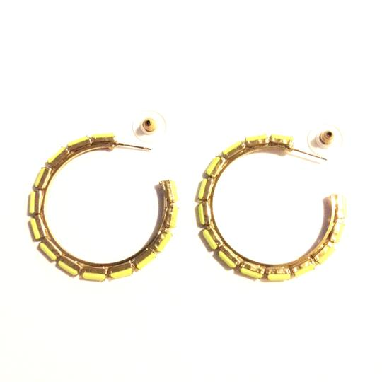 BCBGeneration HOOP LOOP NEON YELLOW GOLD FAUX STONE Image 2