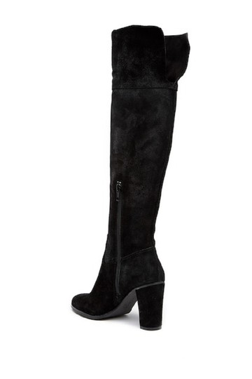 Arturo Chiang Suede Leather Over The Knee Black Boots Image 1