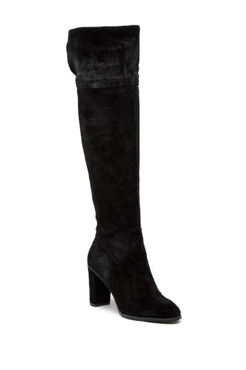 Arturo Chiang Suede Leather Over The Knee Black Boots Image 6