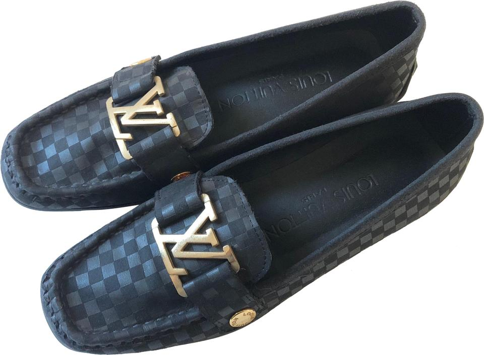 022cf82441f6 Louis Vuitton Lv Lv Driving Lv Loafers Lv Mocassins Dark grey   black Flats  Image 0 ...