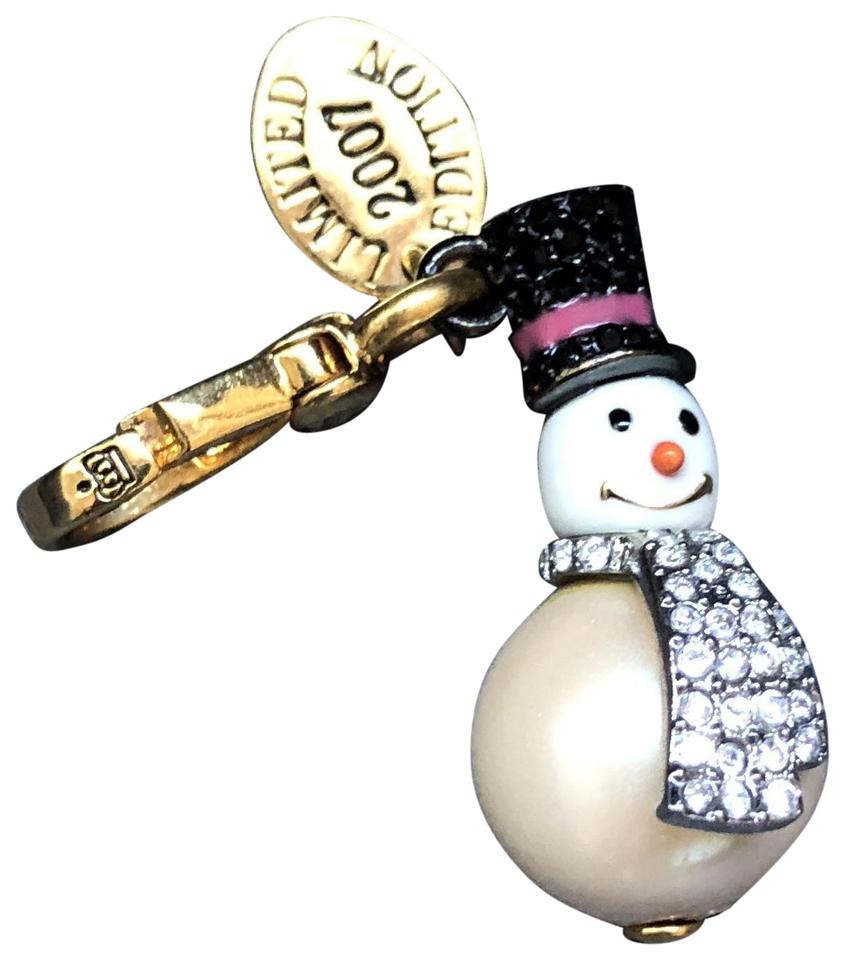 bb987c8703fc7 Juicy Couture White/Pearl/Silver 2007 Ltd Ed Snowman Charm