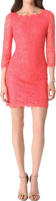Preload https://img-static.tradesy.com/item/24215630/diane-von-furstenberg-coral-zarita-lace-sheath-short-night-out-dress-size-10-m-0-1-650-650.jpg