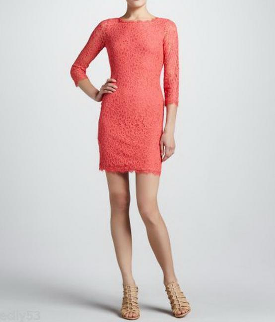 Diane von Furstenberg Lace Sheath Hollywood Date Fall Dress Image 1