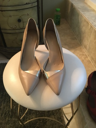Calvin Klein Taupe amd gold Pumps Image 2