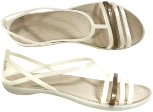 Crocs Strappy Jelly Lightweight White Sandals