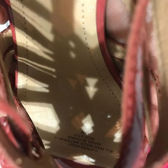 Circa Joan & David Strappy Ankle Strap Patent Leather Rust Sandals Image 5