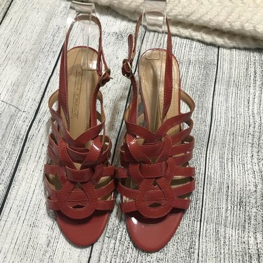 Circa Joan & David Strappy Ankle Strap Patent Leather Rust Sandals Image 6