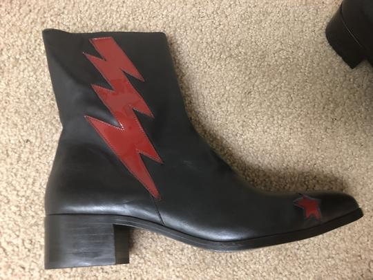 Modern Vice black / red bolt Boots Image 4