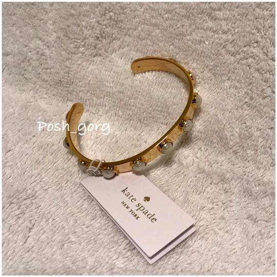 kate spade Gold Pearl Studded Cuff Bracelet kate spade Gold Pearl Studded Cuff Bracelet Image 1