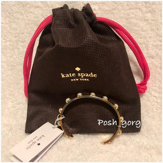 kate spade Gold Pearl Studded Cuff Bracelet kate spade Gold Pearl Studded Cuff Bracelet Image 2