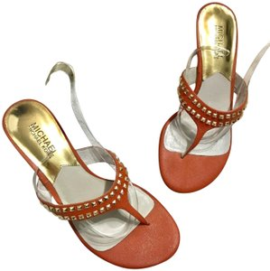 MICHAEL Michael Kors Studded Orange Sandals