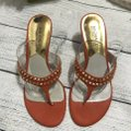 MICHAEL Michael Kors Studded Orange Sandals Image 2