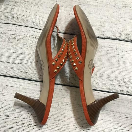 MICHAEL Michael Kors Studded Orange Sandals Image 6